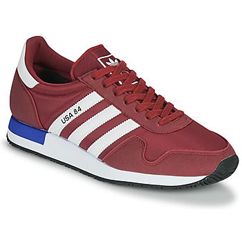Schuhe Sneaker Low adidas Originals USA 84 Bordeaux / Weiss