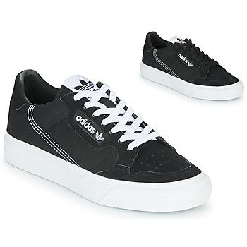 Schuhe Kinder Sneaker Low adidas Originals CONTINENTAL VULC J Schwarz