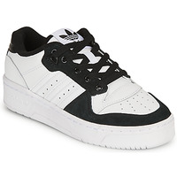 Schuhe Kinder Sneaker Low adidas Originals RIVALRY LOW J Weiss / Schwarz
