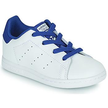 Schuhe Jungen Sneaker Low adidas Originals STAN SMITH EL I Weiss / Blau