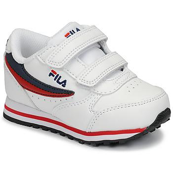 Schuhe Kinder Sneaker Low Fila ORBIT VELCRO INFANTS Weiss / Blau
