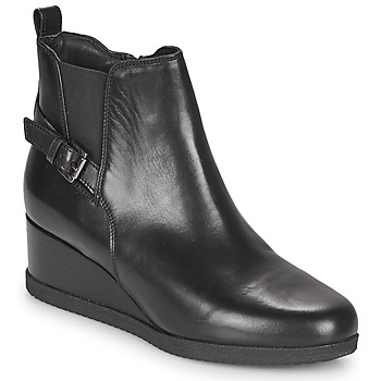 Schuhe Damen Low Boots Geox ANYLLA WEDGE Schwarz