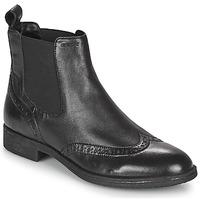 Schuhe Damen Low Boots Geox JAYLON Schwarz