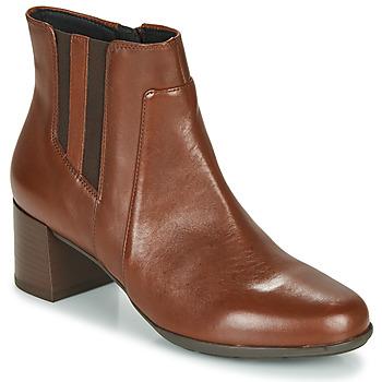 Schuhe Damen Low Boots Geox NEW ANNYA MID Braun