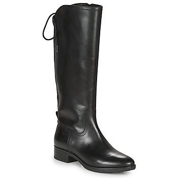 Schuhe Damen Klassische Stiefel Geox FELICITY Schwarz