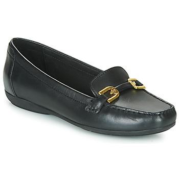 Schuhe Damen Slipper Geox ANNYTAH MOC Schwarz