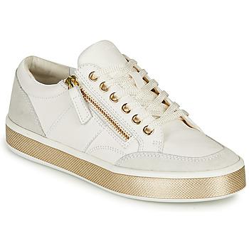 Schuhe Damen Sneaker Low Geox LEELU Weiss