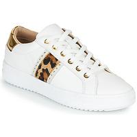 Schuhe Damen Sneaker Low Geox PONTOISE Weiss / Leopard