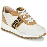 Schuhe Damen Sneaker Low Geox TABELYA Weiss / Leopard