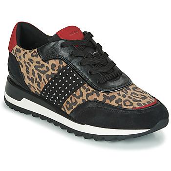 Schuhe Damen Sneaker Low Geox TABELYA Leopard / Schwarz