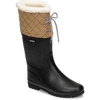 Schuhe Damen Schneestiefel Aigle POLKA GIBOULEE Marine / Beige