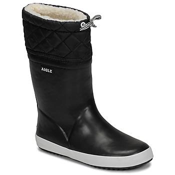 Schuhe Kinder Schneestiefel Aigle GIBOULEE Schwarz