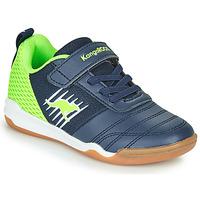 Schuhe Jungen Sneaker Low Kangaroos SUPER COURT EV Blau / Grün