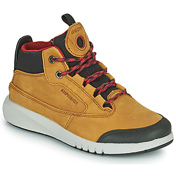 Schuhe Jungen Boots Geox AERANTER ABX Camel
