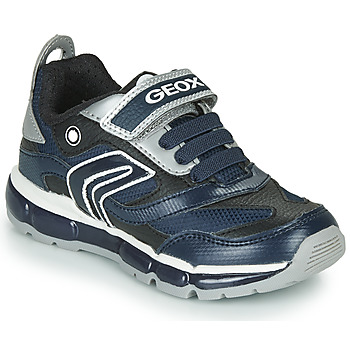 Schuhe Jungen Sneaker Low Geox ANDROID Marine / Silbern