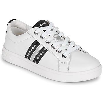 Schuhe Mädchen Sneaker Low Geox DJROCK Weiss