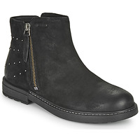 Schuhe Mädchen Boots Geox ECLAIR Schwarz