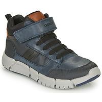 Schuhe Jungen Boots Geox FLEXYPER Marine / Schwarz