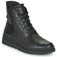 Schuhe Mädchen Boots Geox GILLYJAW Schwarz