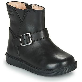 Schuhe Mädchen Klassische Stiefel Geox HYNDE WPF Schwarz