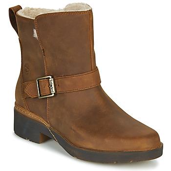 Schuhe Damen Boots Timberland GRACEYN BIKER WP Braun