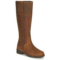 Schuhe Damen Klassische Stiefel Timberland GRACEYNTALLSIDEZIPWP Braun