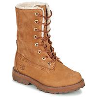 Schuhe Kinder Boots Timberland COURMA KID SHRL RT Braun