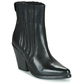 Schuhe Damen Low Boots Moma CROSBY Schwarz