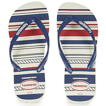 Schuhe Herren Zehensandalen Havaianas Top Nautical Blau / Rot