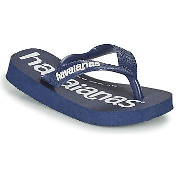 Schuhe Jungen Zehensandalen Havaianas TOP LOGOMANIA Marine