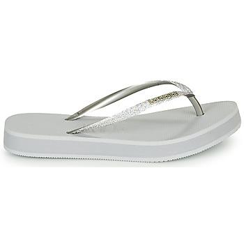 Havaianas SLIM FLATFORM GLITTER Silbern - Kostenloser Versand |  - Schuhe Zehensandalen Damen 3199