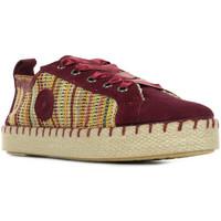Schuhe Damen Leinen-Pantoletten mit gefloch Pataugas Panke Rot