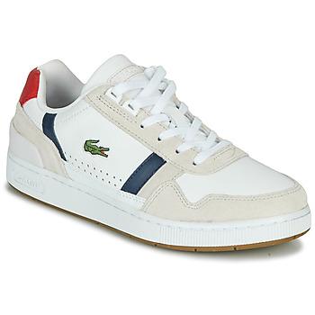 Schuhe Damen Sneaker Low Lacoste T-CLIP 0120 2 SFA Weiss / Marine / Rot