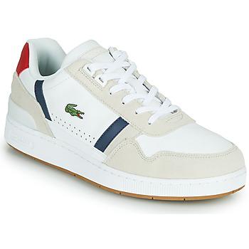 Schuhe Herren Sneaker Low Lacoste T-CLIP 0120 2 SMA Weiss / Marine / Rot