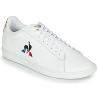 Schuhe Herren Sneaker Low Le Coq Sportif COURTSET Weiss / Cognac