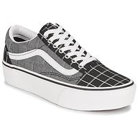 Schuhe Damen Sneaker Low Vans OLD SKOOL PLATFORM Grau