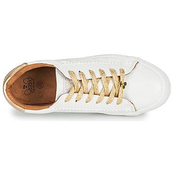 Le Temps des Cerises VIC Weiss / Gold - Kostenloser Versand    - Schuhe Sneaker Low Damen 5499