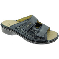 Schuhe Damen Pantoffel Calzaturificio Loren LOM2824bl blu