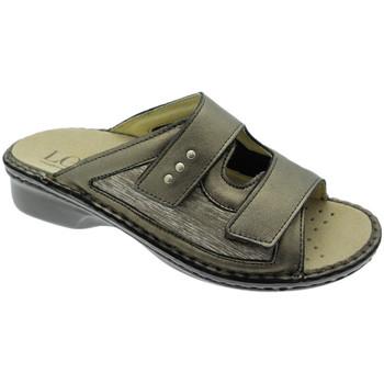 Schuhe Damen Pantoffel Calzaturificio Loren LOM2824br tortora