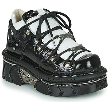 Schuhe Damen Sneaker Low New Rock M-106N-S76 Schwarz / Weiss