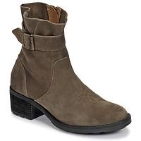 Schuhe Damen Low Boots Palladium Manufacture MARGO 04 SUD Kaki
