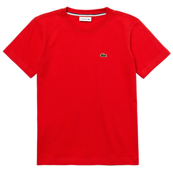 Kleidung Jungen T-Shirts Lacoste TJ1442-F8M-B Rot