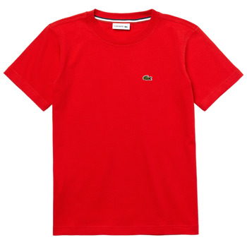 Kleidung Jungen T-Shirts Lacoste TJ1442-F8M-J Rot