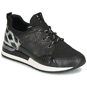 Schuhe Damen Sneaker Low Remonte Dorndorf R2503-45 Schwarz / Leopard