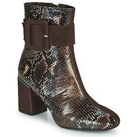 Schuhe Damen Low Boots Perlato JAMIROCK Braun