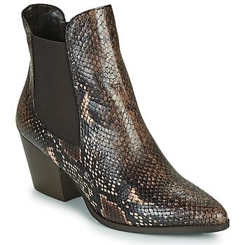Schuhe Damen Low Boots Perlato JAMOG Braun
