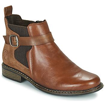 Schuhe Damen Low Boots Rieker Z49A9-24 Camel