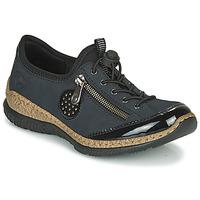Schuhe Damen Derby-Schuhe Rieker N3268-01 Blau / Schwarz