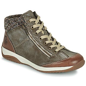 Schuhe Damen Boots Rieker L5223-24 Braun