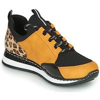 Schuhe Damen Sneaker Low Rieker N3083-68 Cognac / Schwarz
